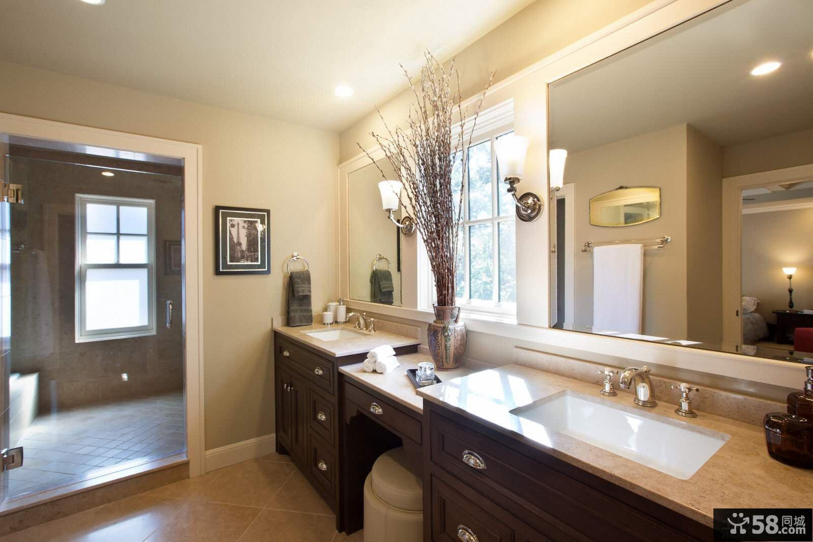 法恩莎卫浴整体浴室柜效果图