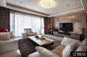 现代风格两房装修客厅效果图欣赏