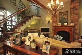 美式别墅客厅装饰效果图欣赏