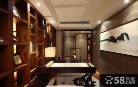 新中式书房装修欣赏