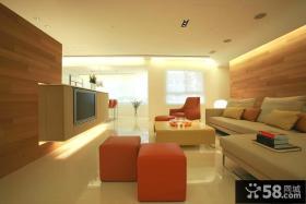 现代热情家居客厅装修