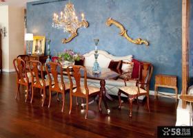 古典欧式餐厅背景墙装修图