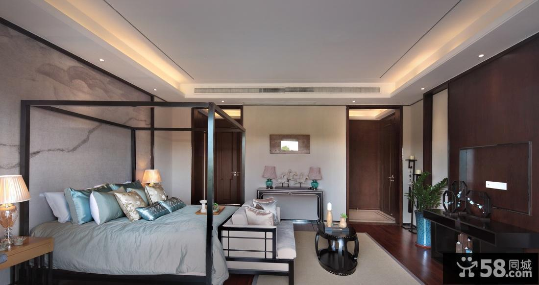儒雅大气中式卧室布置