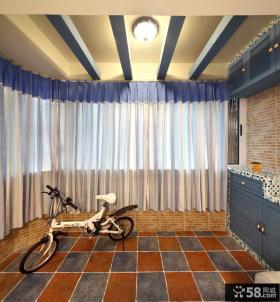 地中海风格弧形阳台装修效果图
