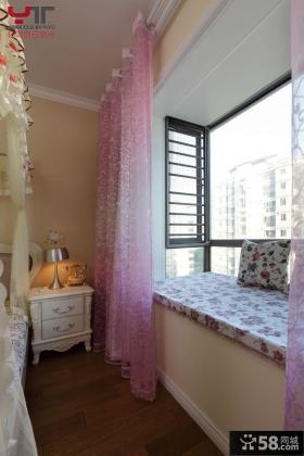 欧式田园风格卧室飘窗装修效果图大全