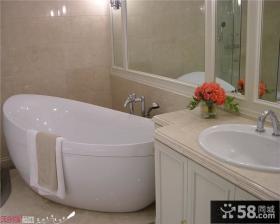 家庭浴缸装修图片