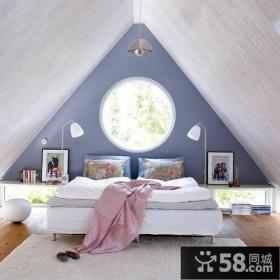 尖顶阁楼卧室设计效果图