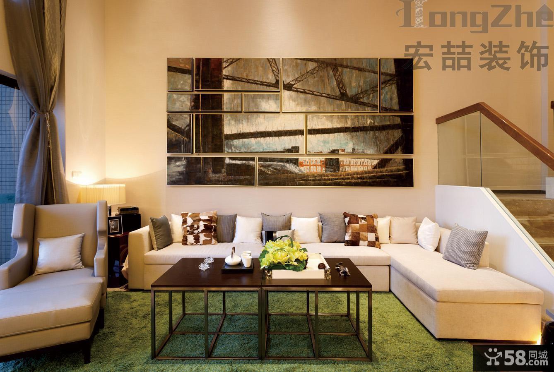 现代简装别墅客厅装修效果图