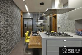 日式风格封闭式厨房装修效果图大全
