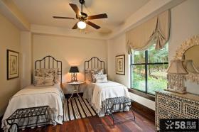 美式设计6平米卧室装修图片