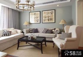 简欧家居客厅装修设计图片2014