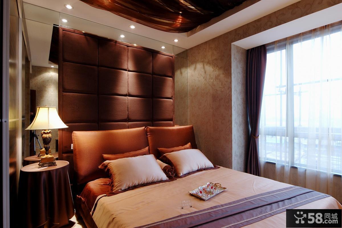 7平米卧室床头软包背景墙效果图