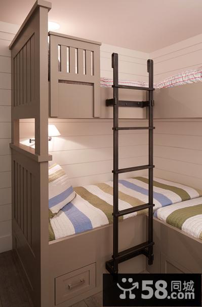 美式复古卧室装修效果图