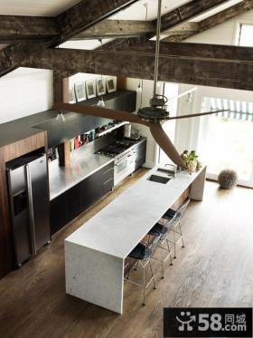 2013开放式厨房吊顶装修效果图大全
