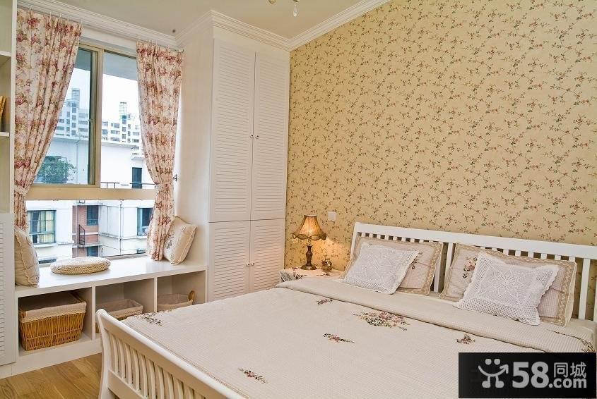 田园风格卧室飘窗设计图片