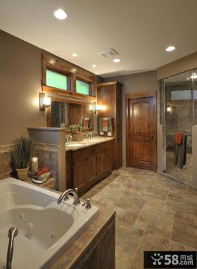 美式卫生间门装修效果图欣赏