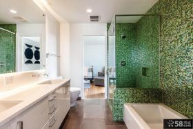 简约日式设计卫生间图片大全