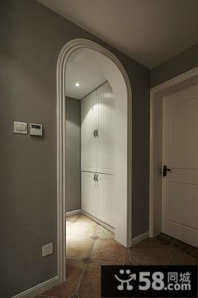 美式复古家居拱形门设计装修效果图