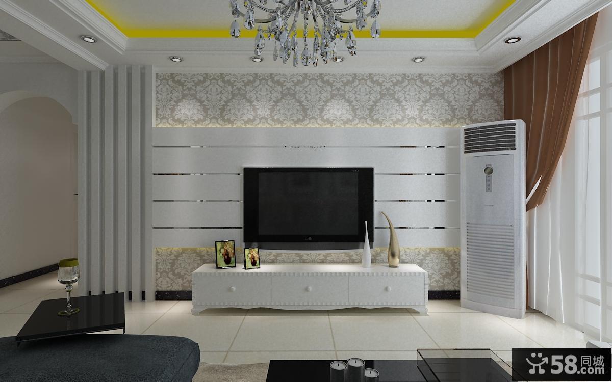 现代电视背景墙设计效果图大全