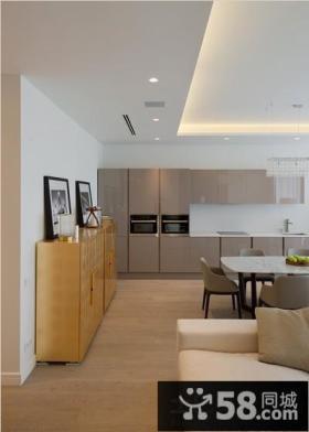 家庭开放式厨房装修效果图片
