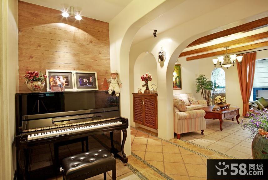 家庭开放式琴房装修效果图