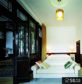 中式四合院卧室效果图
