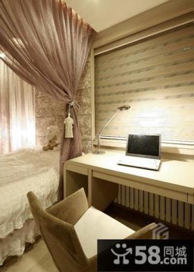 现代简约小卧室书房装修效果图