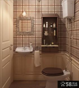 经典的格子卫生间装修效果图大全2014图片