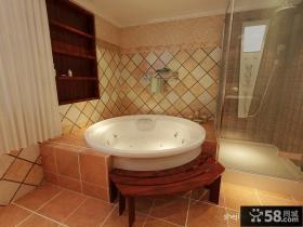 别墅浴室浴缸图片