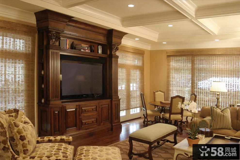 现代式电视背景墙