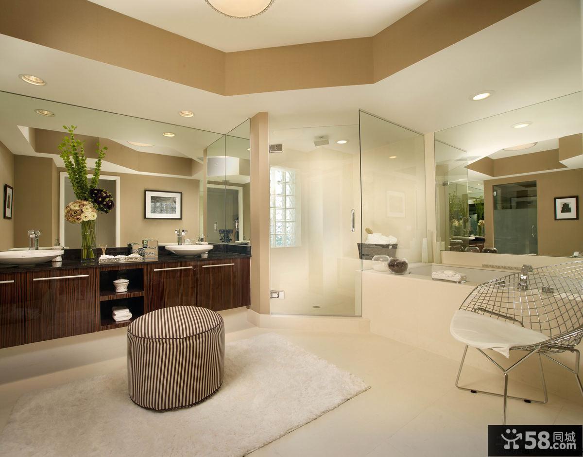 现代大户型整体卫生间装修图片欣赏