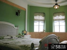绿色卧室墙面颜色图片
