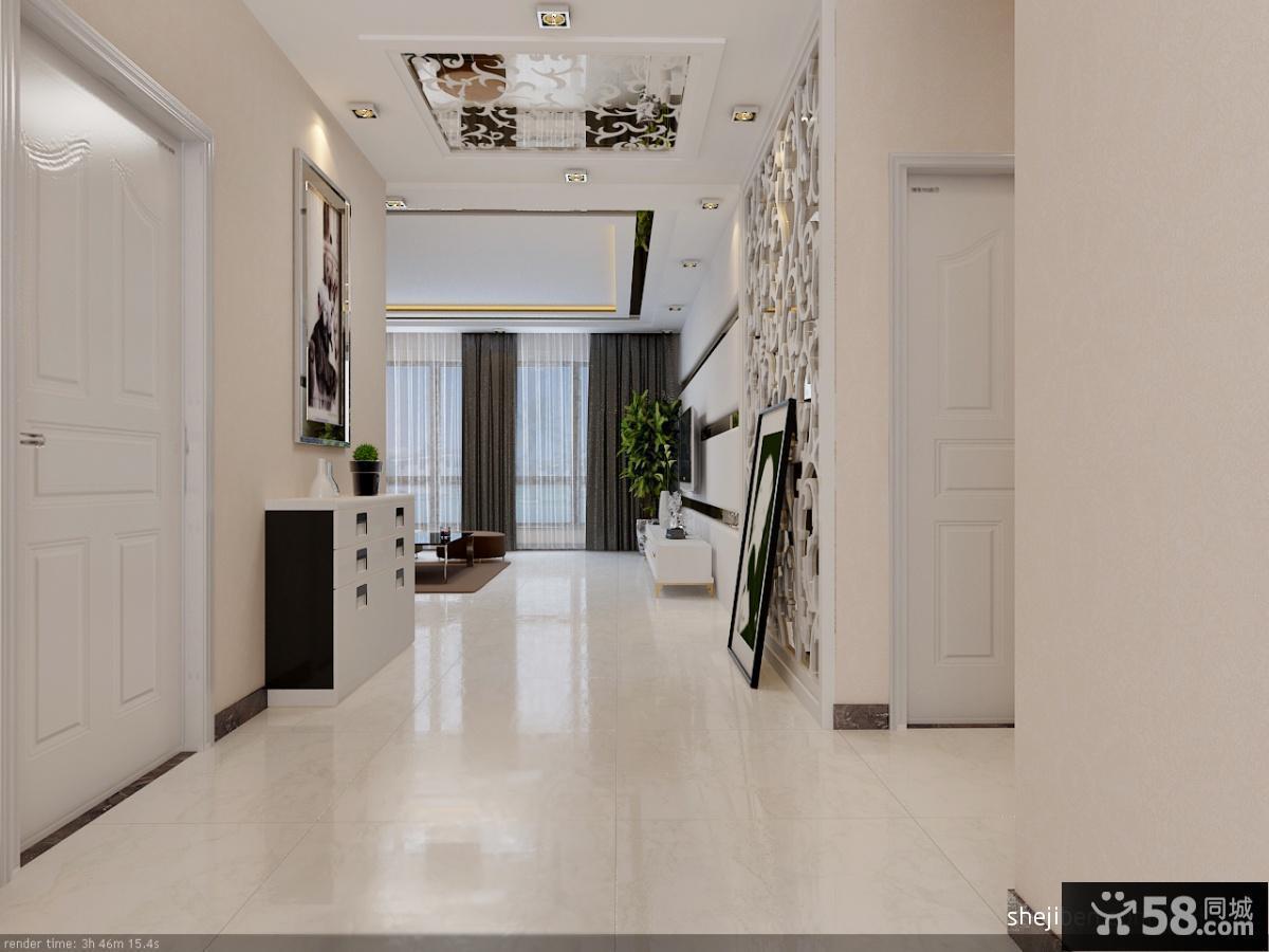 现代风格三居进门玄关装修效果图