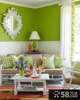 彩色客厅墙面漆颜色效果图