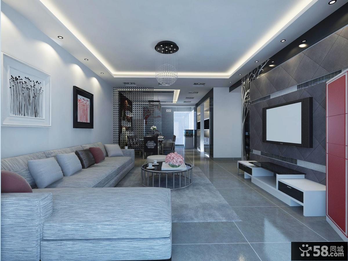 豪华复式楼客厅装修效果图