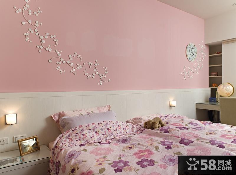 简欧卧室背景墙装修效果图