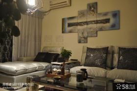 客厅沙发抽象画装饰效果图