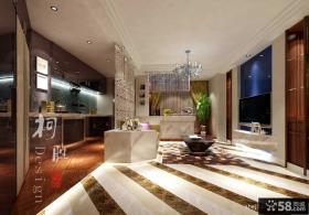 现代简约客厅背景墙效果图片