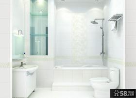 简约卫生间瓷砖效果图欣赏