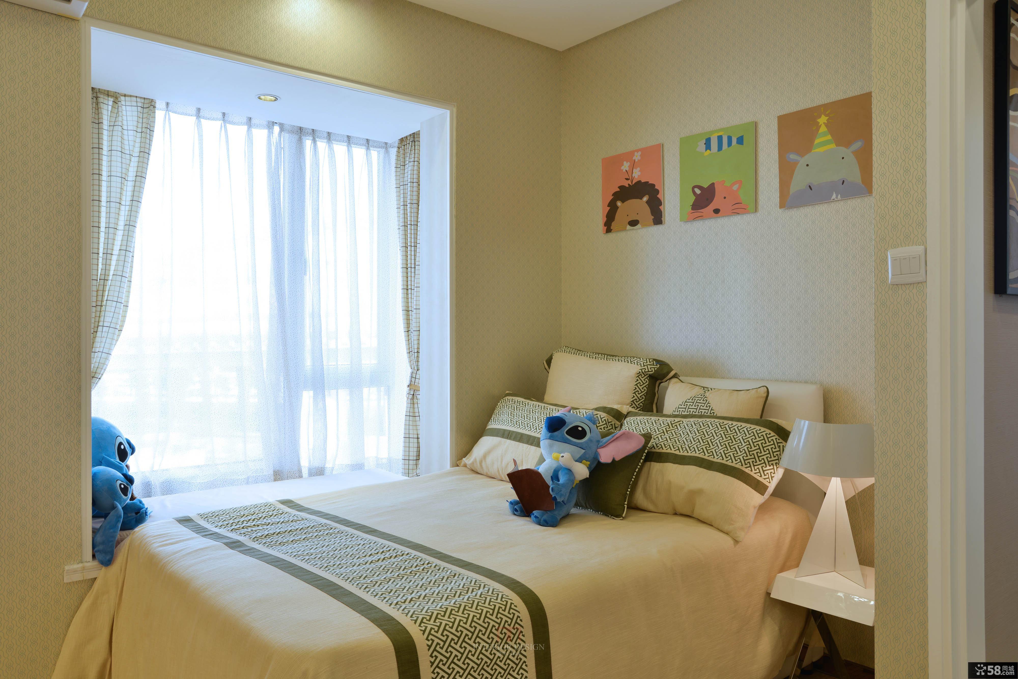 现代中式风格卧室装修效果图片
