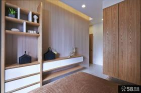 简约风格房间实木衣柜效果图