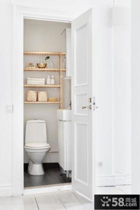 创意北欧纯白卫生间设计
