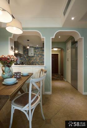 地中海家居风格107平二居装修效果图片