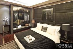 黑白色客卧室装修效果图