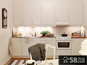 80平小户型极简厨房装修效果图大全2012图片