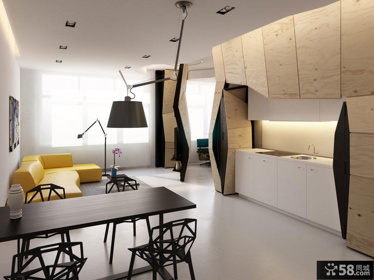 日式风格一居室内装修效果图
