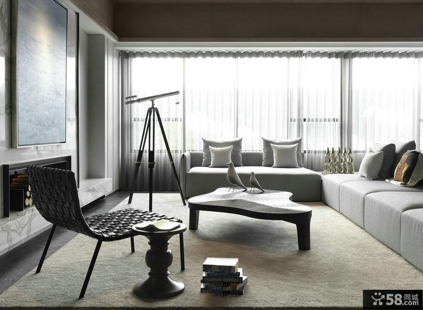 现代风格客厅家具装修图片
