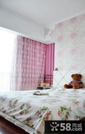 2013田园风格卧室窗帘装修效果图