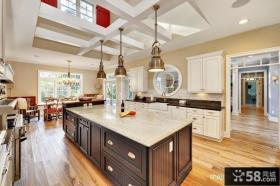 开放式厨房装修效果图大全2013