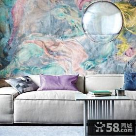 最新简约客厅沙发背景墙装修效果图